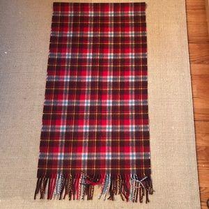 Jcrew plaid wool scarf designed by Moon 19x76